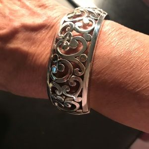 Brighton hinged cuff filigree bracelet